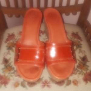 Tory Burch wedges size 9 cork bottoms